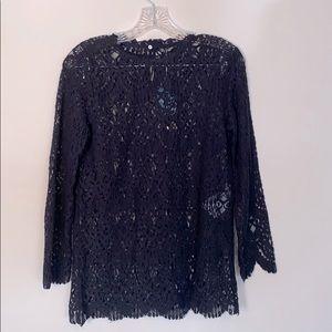 Zara Black Shear Lace Top